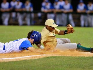 American Legion Baseball 2015: Retif Oil (8) vs 1st NBC (2); Kirsch-Rooney Stadium, June 15