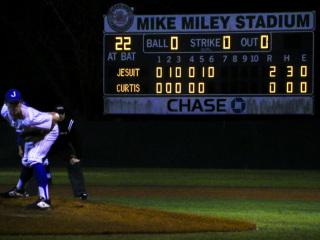 Baseball District, Jesuit (2) vs. John Curtis (1), Mike Miley Field, April 1 & 8, 2019