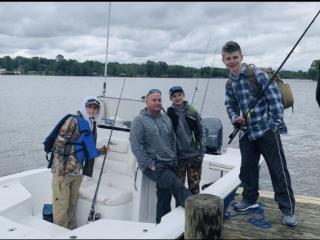 Bass Fishing Team, Cross Lake, Apr. 20, 2021