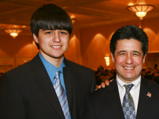 Cal '11, Felix Abadin '13, and Jorge Abadin  '14