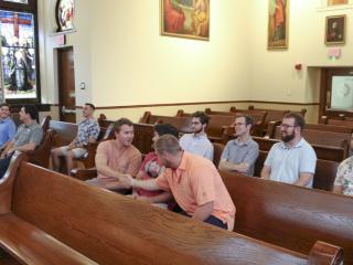 Class of 2014, Pre-Reunion Mass, Holy Name of Jesus Chapel, June 29, 2019
