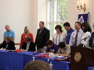 College Athletics Signing Ceremony, May 7, 2014