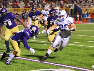 Football 2016 (Hahnville Jamboree): Jesuit (21) vs. Hahnville (14); Tiger Stadium in Hahnville; Thursday, August 25