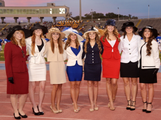 Homecoming Court Presented at Jesuit-St. Aug Game; Tad Gormley Stadium; Friday, Sept. 25, 2015
