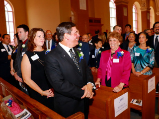 Homecoming Mass and Recognition of the 2015 Alumnus of the Year - John E. O'Shea, Jr. '80; Chapel of the North American Martyrs; Saturday, Sept. 26, 2015