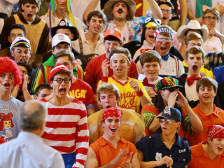 Pep Rally in the Birdcage, Friday, Oct. 23, 2015