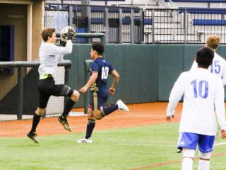 Soccer vs. Holy Cross, Jan. 16, 2018