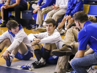 Wrestling District Championships, Holy Cross Gym, Feb. 3, 2018