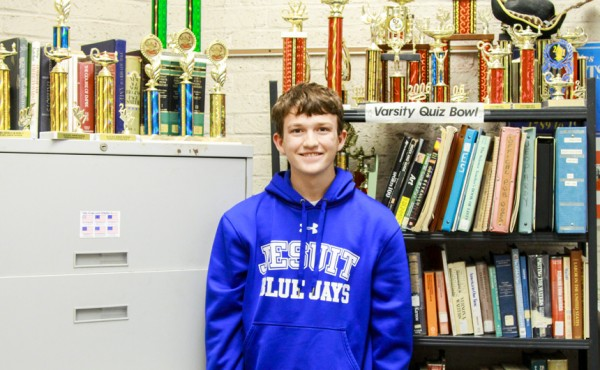 Caleb Rogers is part of Jesuit's award-winning Quiz Bowl team.