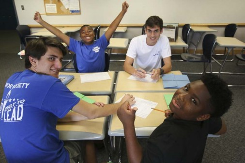 Fifty-seven students worked with 21 Jesuit rising seniors during Operation Upgrade 2017.