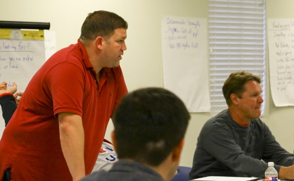 Student activities director Matt Orillion started the St. Francis Borgia retreat in 2014 and continues to lead it today.